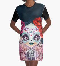 Amelia Calavera - Sugar Skull Graphic T-Shirt Dress