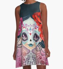 Amelia Calavera - Sugar Skull A-Line Dress