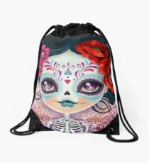 Amelia Calavera - Sugar Skull Drawstring Bag