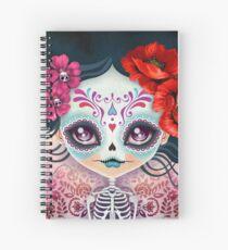 Amelia Calavera - Sugar Skull Spiral Notebook