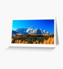 Autumn trekking in the alpine Pusteria valley Greeting Card