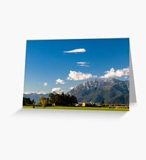 Summer day in the italian countryside Greeting Card