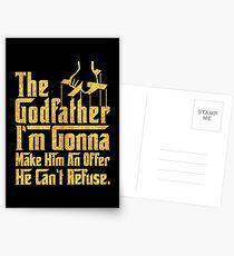 """I'm gonna make... """"The god father""""  Postcards"""