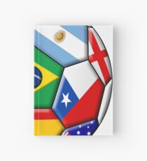 Brazil 2014 - soccer with various flags Hardcover Journal