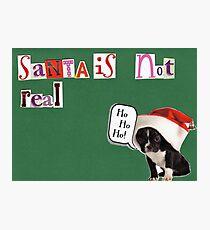 Christmas Cards - Funny, Sardonic Humour Photographic Print