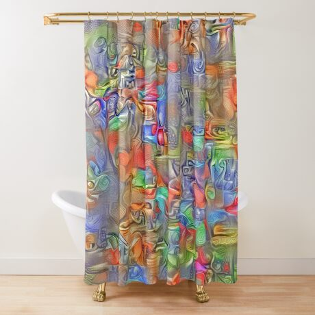 Sinking into deep thought Shower Curtain