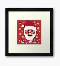 Santa Merry Christmas Framed Print
