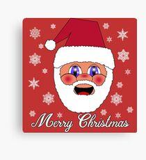 Santa Merry Christmas Canvas Print