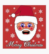 Santa Merry Christmas Photographic Print