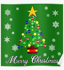 Christmas Tree Merry Christmas Poster
