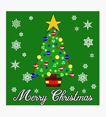 Christmas Tree Merry Christmas Photographic Print