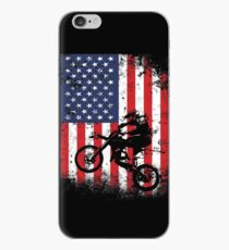 American Flag Motocross Dirtbike iPhone Case