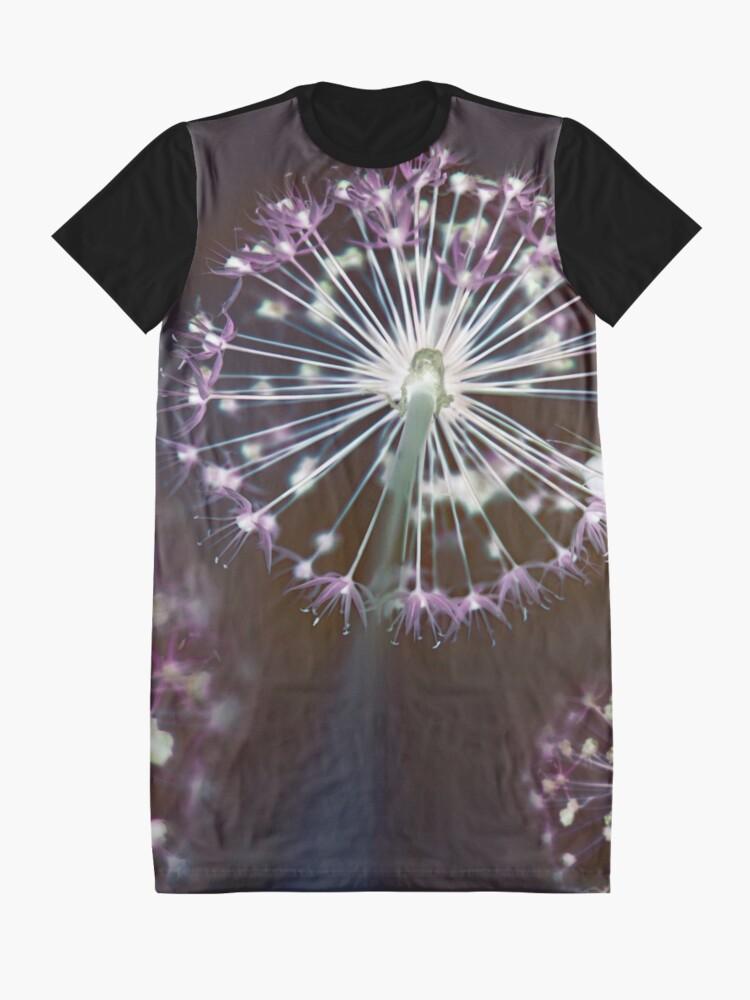 Alternate view of Floral Fireworks. Dark Floral Graphic T-Shirt Dress