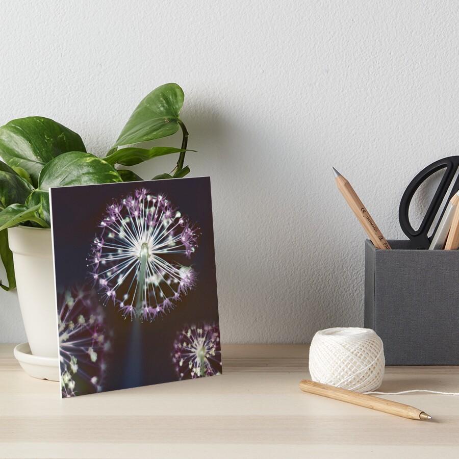 Floral Fireworks. Dark Floral Art Board Print