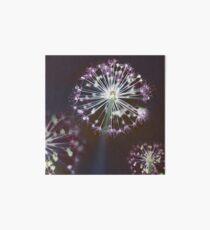 Floral Fireworks. Dark Floral Art Board