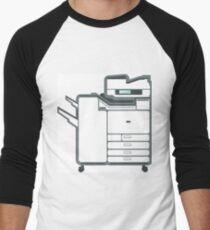 Large copier printer Men's Baseball ¾ T-Shirt