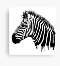Zebra paint drip Canvas Print