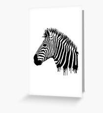 Zebra-Farbtropfenfänger Grußkarte
