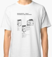 Bookbinding – About Paperback and Hardcover (in English) Classic T-Shirt