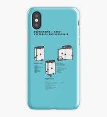 Bookbinding – About Paperback and Hardcover (in English) iPhone Case/Skin