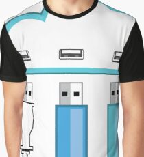 USB cloud Graphic T-Shirt