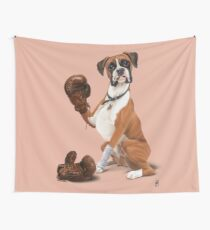 The Boxer (colour) Wall Tapestry