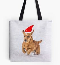 Cute Daschund Through the Snow Tote Bag