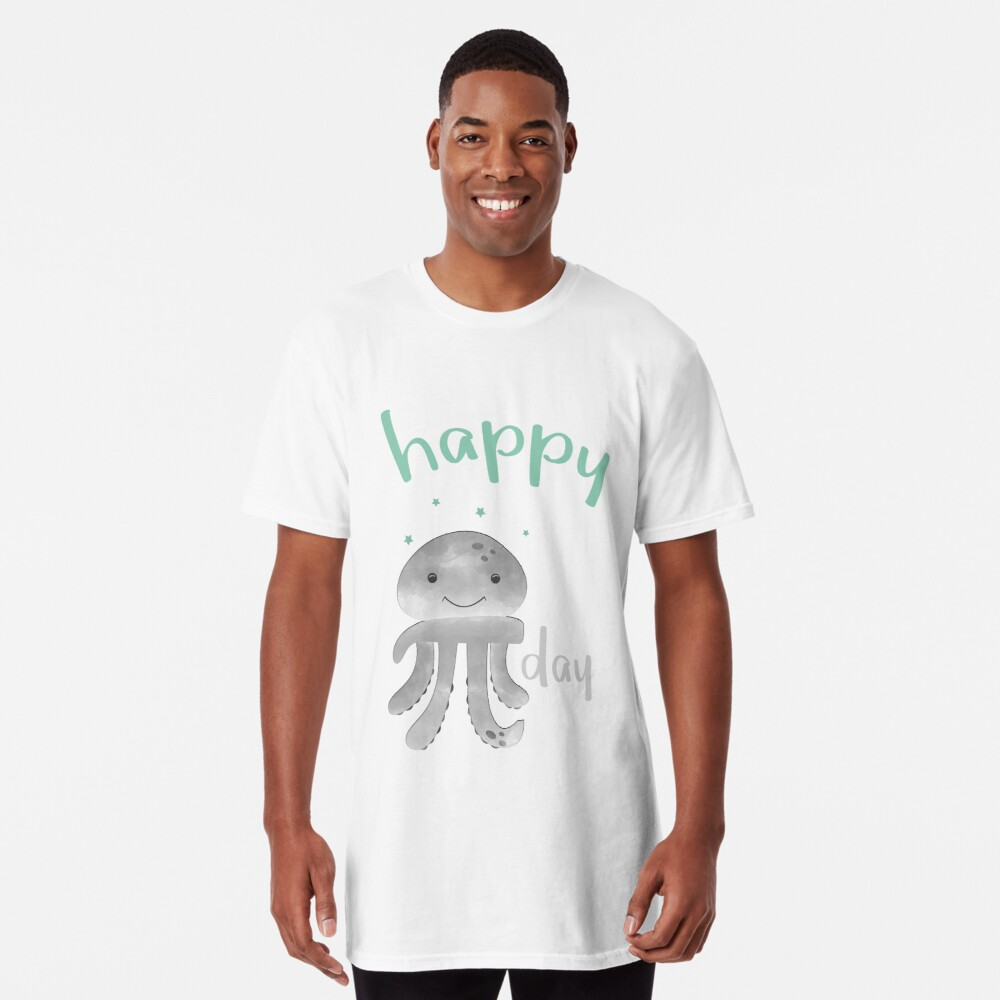 Glückliche lächelnde PU-Krake - PU-Tag Longshirt