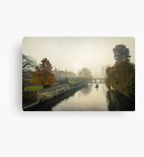 Foggy Morning In Cambridge IV Canvas Print