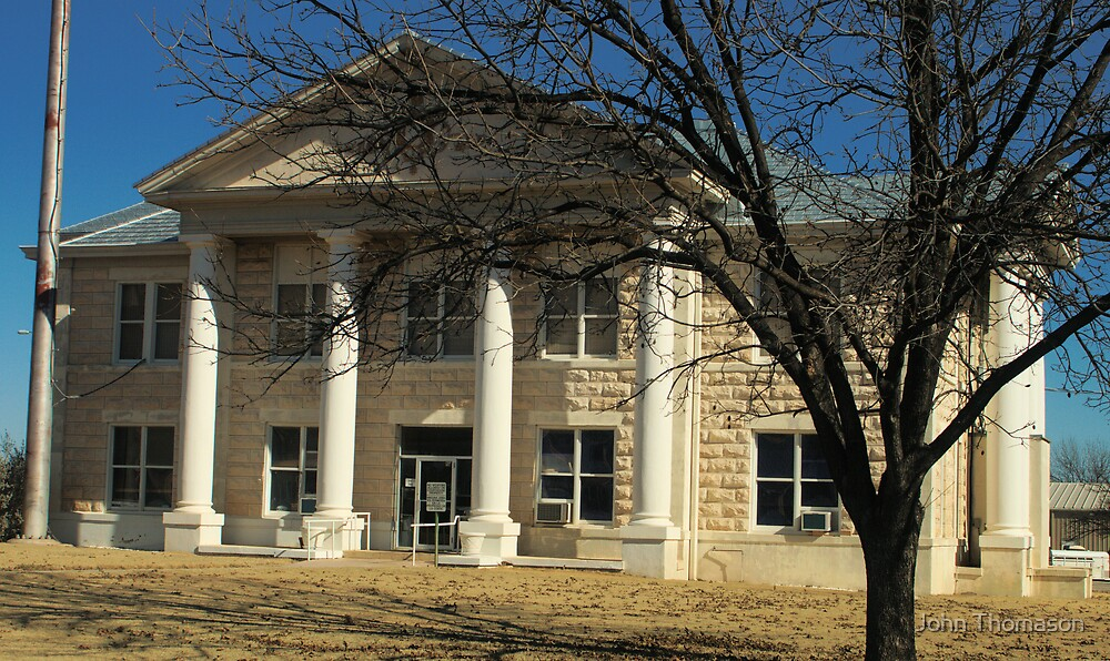 Glasscock Co. Courthouse, Garden City, Tx. 1909 by John Thomason