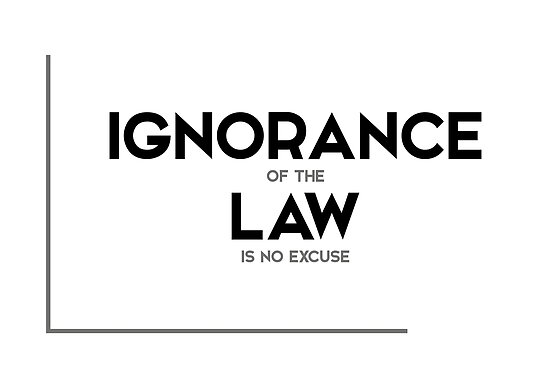 """I Am The Law Movie Quote: """"ignorance Of The Law Is No Excuse"""