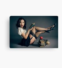 The Naughty Teacher Pin Up Canvas Print