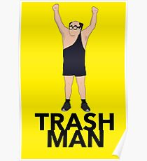 The Trash Man Design  Poster