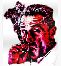 Robert De Niro smoking mafia gangster movie Goodfellas painting Poster