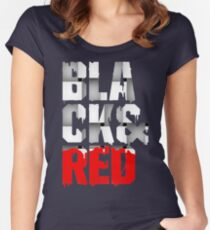 Black And Red EL835 Trending Women's Fitted Scoop T-Shirt