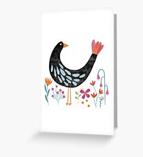 The Bird with the Fancy Tail Greeting Card