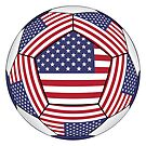 Ball with United States flag by siloto