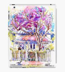 Jacarandas on Birkley Rd, Manly, Sydney iPad Case/Skin