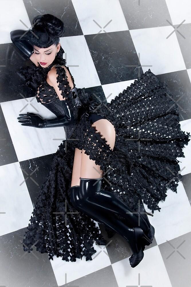 Chessboard - latex by phantomorchid