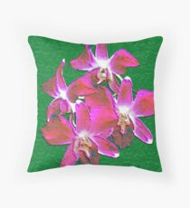 Artistic Orchid Throw Pillow