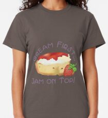 Cream First - Jam on Top! Classic T-Shirt