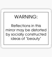 Socially Constructed Beauty Sticker