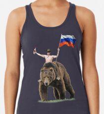 Putin Wodka Bär Trainingsanzug Hardbass Racerback Tank Top