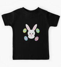 Easter Bunny with Easter Eggs Kids Tee