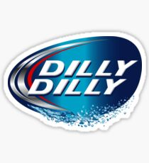 Dilly Dilly Steelers Ben Roethlisberger used Bud Light commercial in cadence ( Pittsburgh Steelers Dilly Dilly  Bud Light Parody game of thrones ) Sticker