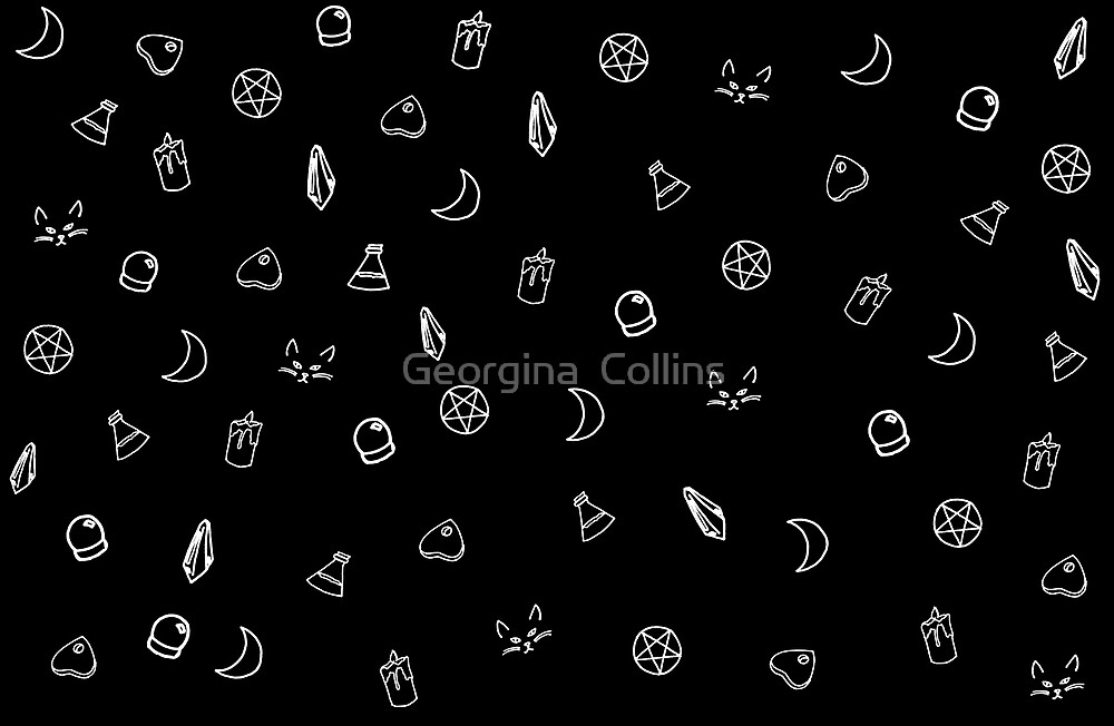 Occult Witch Symbols By Georgina Collins Redbubble