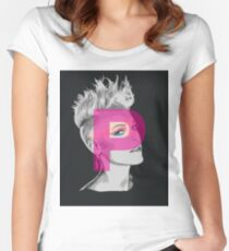 Pink Women's Fitted Scoop T-Shirt