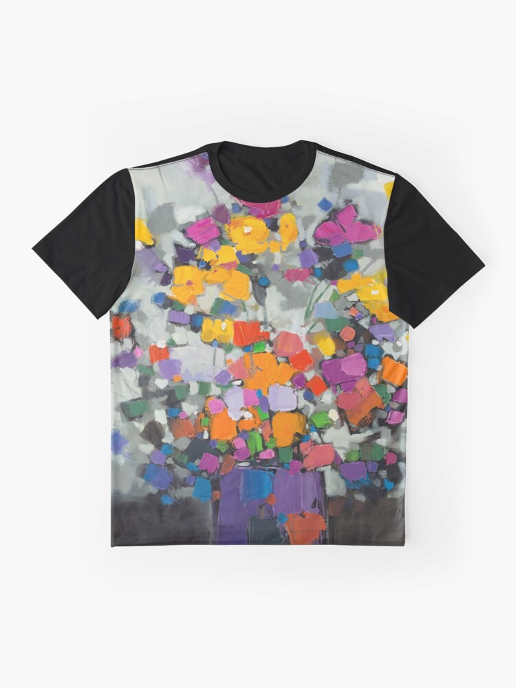 Alternate view of Floral Spectrum 2 Graphic T-Shirt