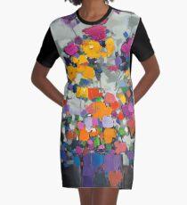Floral Spectrum 2 Graphic T-Shirt Dress