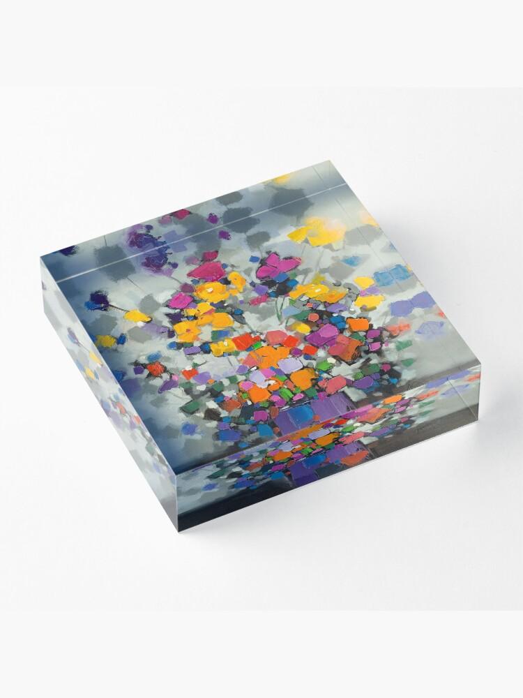 Alternate view of Floral Spectrum 2 Acrylic Block